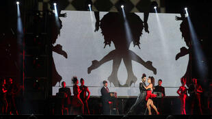 Representación de un tango durante la ceremonia de apertura de los Juegos Olímpicos de la Juventud, Buenos Aires, 6 de octubre