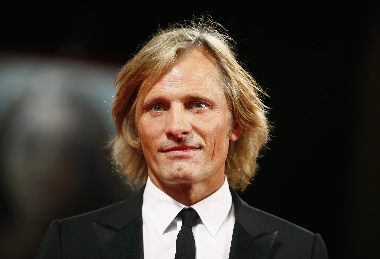 O ator de origem dinamarquesa Viggo Mortensen apresenta o filme Loin des Hommes, em Veneza.