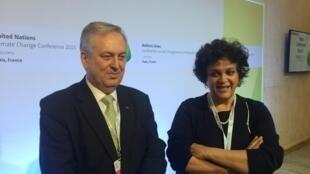 Ministra Izabella Teixeira e embaixador Luiz Alberto Figueiredo, durante a COP21. Teixeira deve representar o Brasil na cerimônia em Nova York.