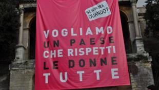 Manifestation en Italie «Nous voulons un pays qui respecte toutes les femmes». (Photo datée de 2011).