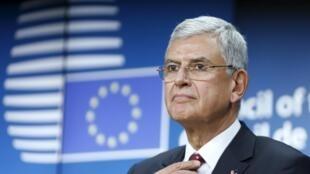Volkan Bozkir, ministro turco dos assuntos europeus, Bruxelas, 14 de Dezembro de 2015