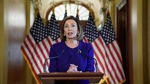 House Speaker Nancy Pelosi (D-CA) announces the House of Representatives will launch a formal inquiry into the impeachment of U.S. President Donald Trump, September 24, 2019
