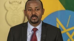 Le Premier ministre éthiopien Abiy Ahmed, le 12 janvier 2020 à Pretoria, en Afrique du Sud.