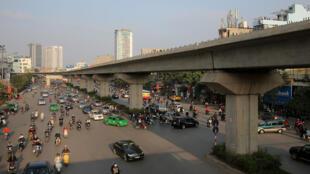 Tuyến tầu điện Cát Linh - Hà Đông do chủ thầu Trung Quốc xây dựng ở Hà Nội. Ảnh minh họa.