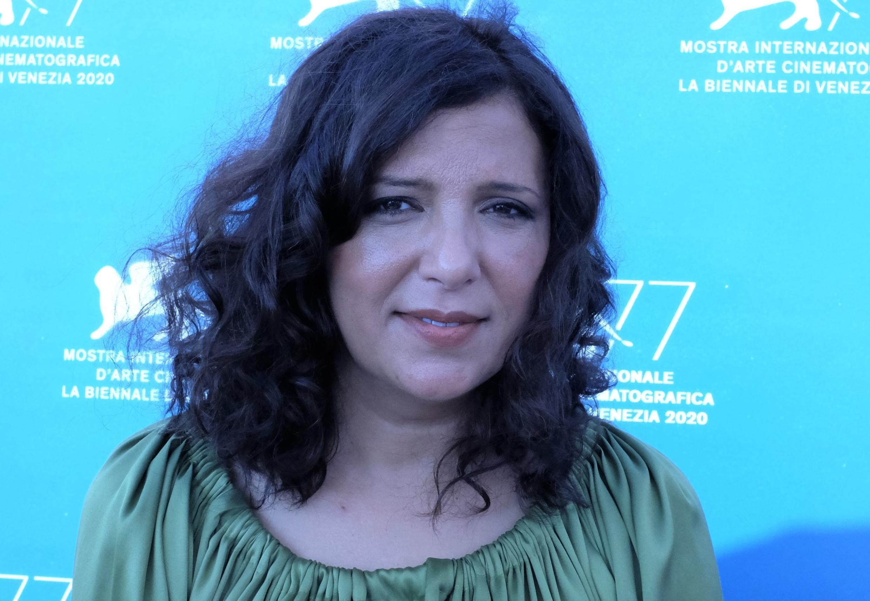 La cinéaste tunisienne Kaouther Ben Hania après la première mondiale de son film «L'homme qui a vendu sa peau» à la Mostra de Venise 2020.