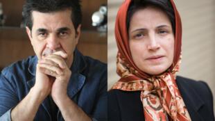 O cineasta Jafar Panahi (direita) e a advogada Nasrin Sotoudeh receberão o prêmio Sakharov  no dia 12 de dezembro em Estrasburgo, no leste da França.