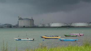 Khu vực gần cảng Johor, Malaysia, 7/11/2017.