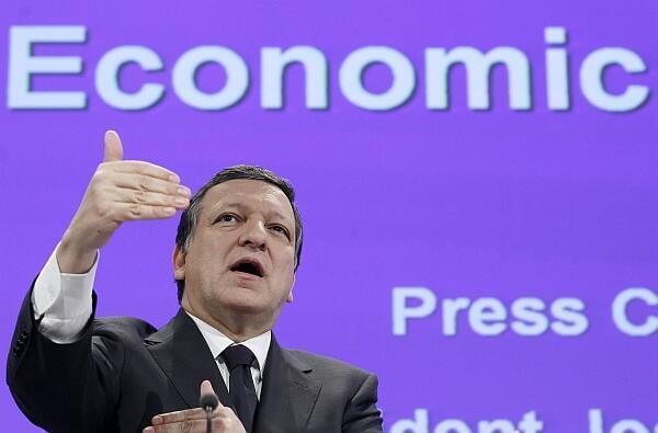 El presidente de la Comisión Europea José Manuel Barroso durante una conferencia de prensa en Bruselas, el 12 de mayo.