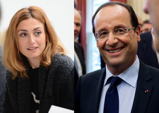 """François Hollande estuda proecssar a revista """"Closer"""" por reportagem sobre suposto romance com a atriz Julie Gayet."""