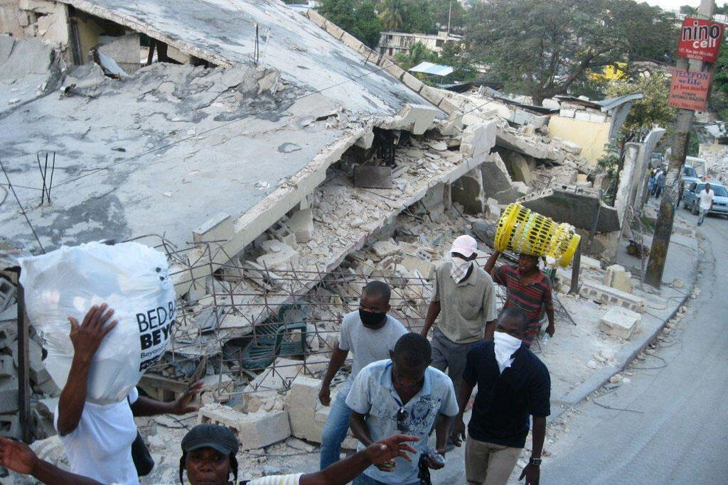O Haïti após o terremoto de 2010.