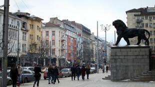 Une rue du centre ville de Sofia