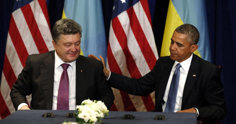 Президент США Барак Обама и президент Украины Петр Порошенко, Варшава, 4 июня 2014 г.