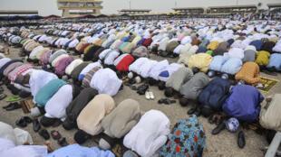 Musulmi na sallar Idil-fitr a birnin  Accra na kasar Ghana