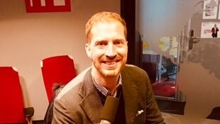 Andrew Sean Greer, Prix Pulitzer 2018, en studio à RFI (janvier 2019).