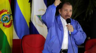 O presidente da Nicarágua, Daniel Ortega, em um encontro com representantes da Aliança Bolivariana pelas Américas, em 8 de novembro de 2018.