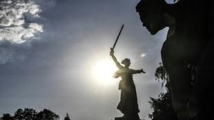 """The Motherland Calls"" statue in Volgograd"