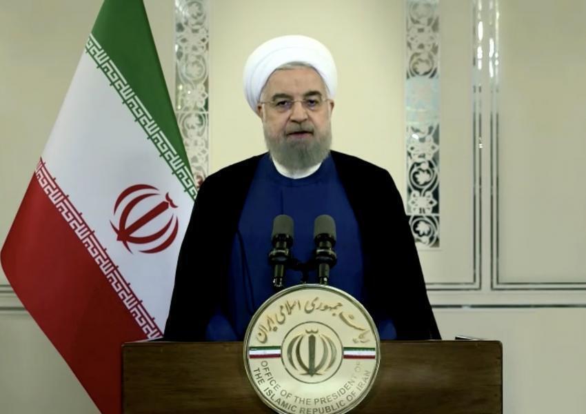 Hassan Rohani, président iranien - discours enregistré pour l'assemblée générale des NU 22 septembre 2020