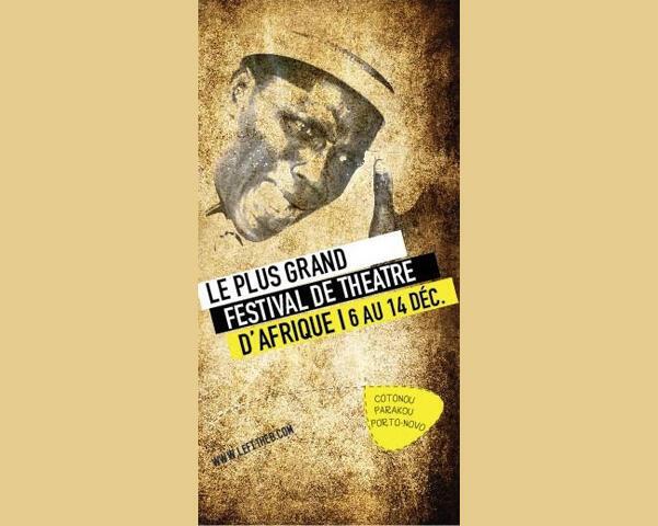 L'affiche officielle de la 12ème édition du festival international de théâtre du Bénin, du 6 au 14 décembre 2014.