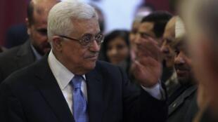 El presidente palestino Mahmud Abas.