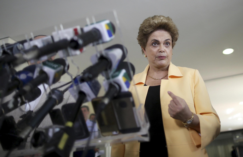 La présidente brésilienne Dilma Rousseff, le 5 avril 2016 à Brasilia.