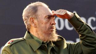 資料圖片:古巴革命領導人菲德爾-卡斯特羅。攝於2006年7月21日