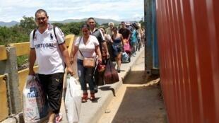 Le pont Simon Bolivar, frontière entre le Venezuela et la Colombie à San Antonio del Tachira, le 9 juin dernier.