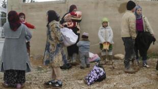 Plus de 2 000 Syriens sont arrivés au Liban depuis le week-end dernier, d'après le Haut commissariat aux réfugiés (HCR). A Qaa, le 4 mars 2012.