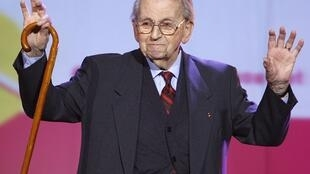 Raymond Aubrac à Paris le 27 février 2008.