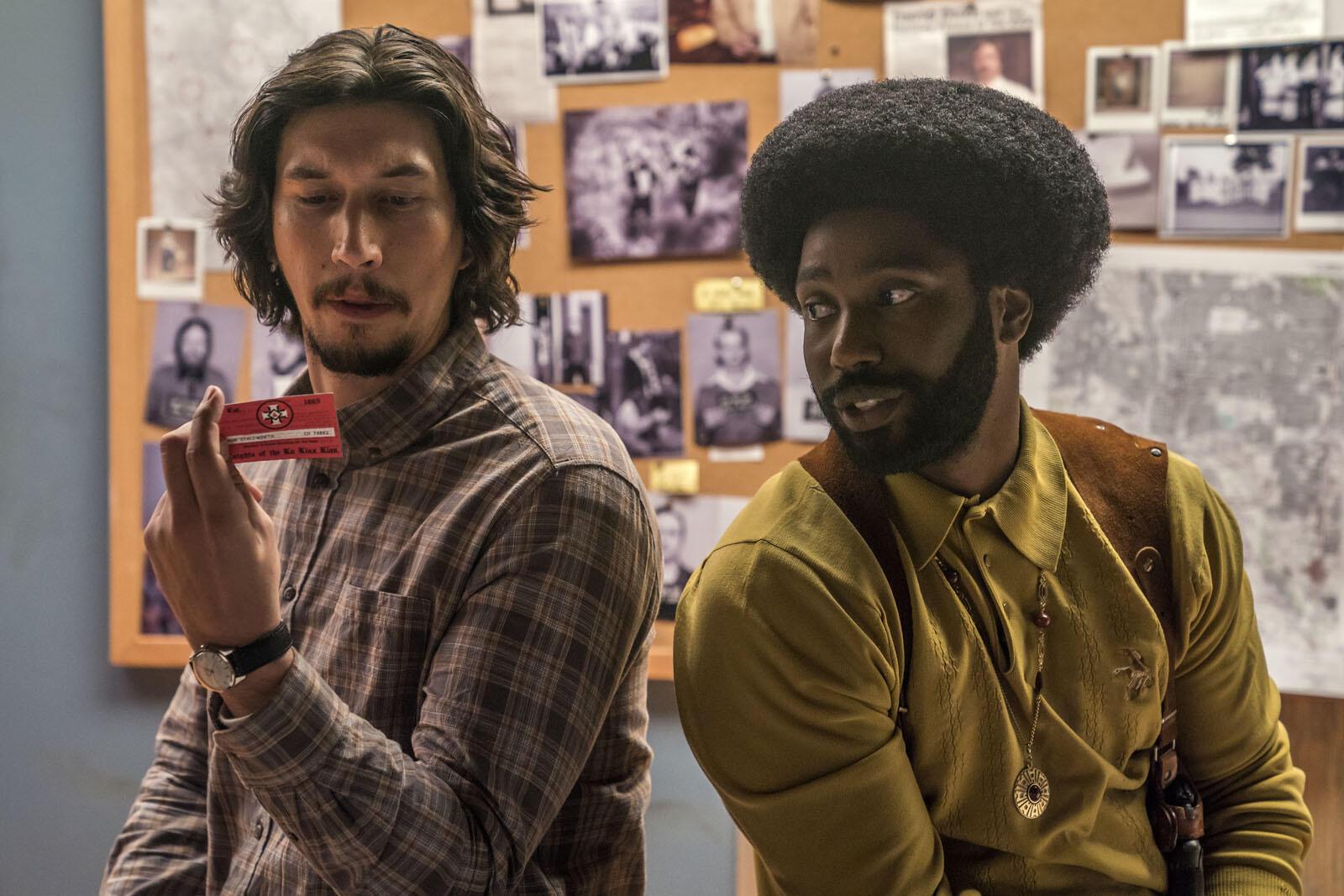 Adam Driver et John David Washington dans «BlacKKKlansman» de Spike Lee.
