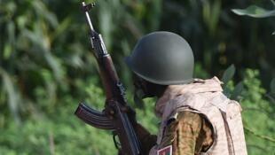 Un militaire burkinabè.