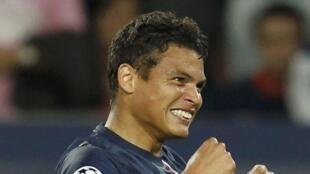 Les joueurs du Paris Saint-Germain, le 18 septembre 2012, lors du match contre le Dynamo de Kiev, au Parc des Princes à Paris.