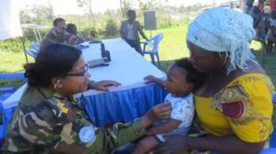 Wata mace da yaron ta a kauyen Bunia, dake yankin Ituri a kasar Janhuriyar Democradiyya ta Congo.
