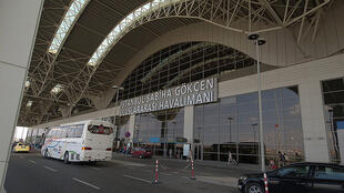 Sabiha Gökçen International Airport in Istanbul where the French couple have been arrested.