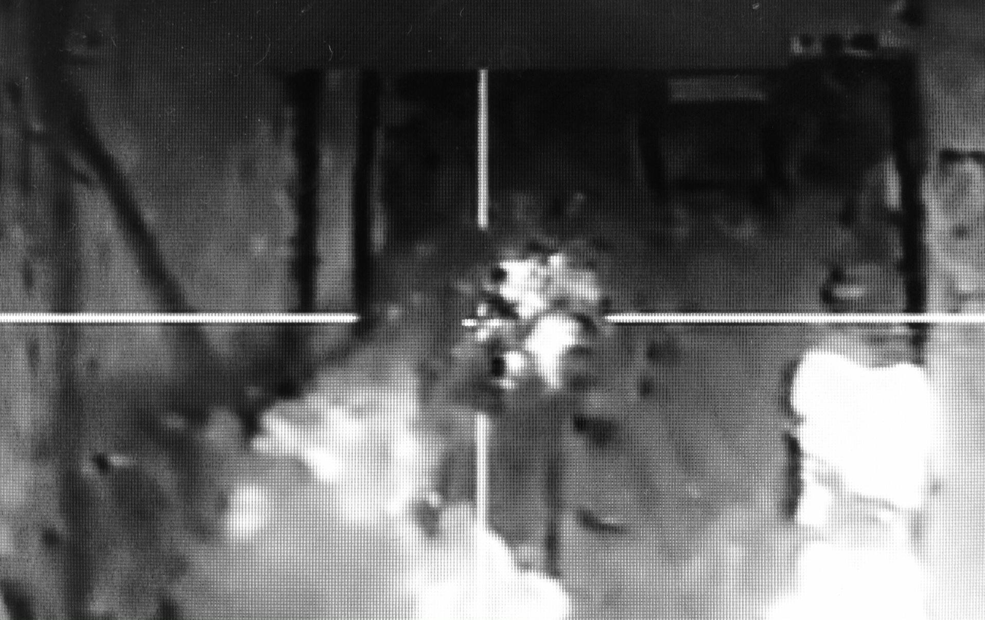 Frappes françaises dans le cadre de l'opération Chammal. Image tirée d'une vidéo tournée depuis le cockpit.