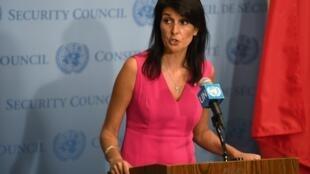 La embajadora Nikki Haley, representante permanente de Estados Unidos en la ONU.