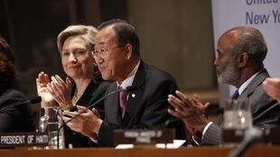 На конференции ООН по Гаити.