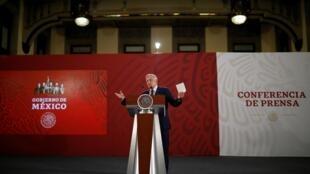 Presidente mexicano, Andrés Manuel López Obrador, 7 de junho de 2019 no México