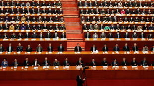 Chinese President Xi Jinping and other leaders attend the closing session of the Chinese People's Political Consultative Conference (CPPCC) at the Great Hall of the People in Beijing, China March 10, 2021.