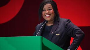 La Sénégalaise Fatma Samoura, Secrétaire générale de la FIFA, le 24 février 2019 en Pologne.