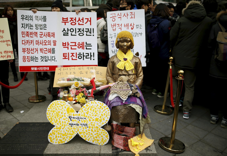 Hồ sơ gái giải sầu luôn là cái gai trong quan hệ Nhật-Hàn.