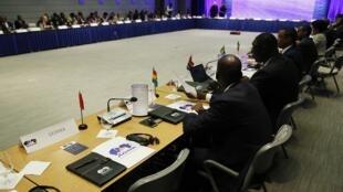 Session d'ouverture du forum sur l'Agoa, l'accord de libre-échange entre les Etats-Unis et l'Afrique, à Washington, le lundi 4 août 2014.