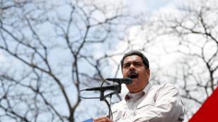 Le président du Venezuela, Nicolas Maduro, le 15 mai 2018 à Charallave.