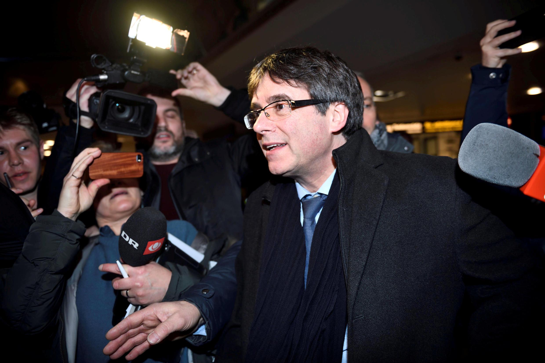 Aliyekuwa Kiongozi wa Catalonia Carles Puigdemont.