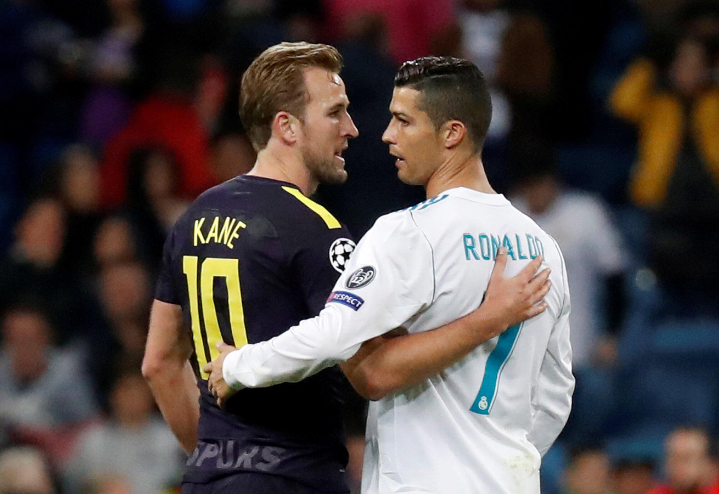 Dan wasan Tottenham Harry Kane da Cristiano Ronaldo na Real Madrid