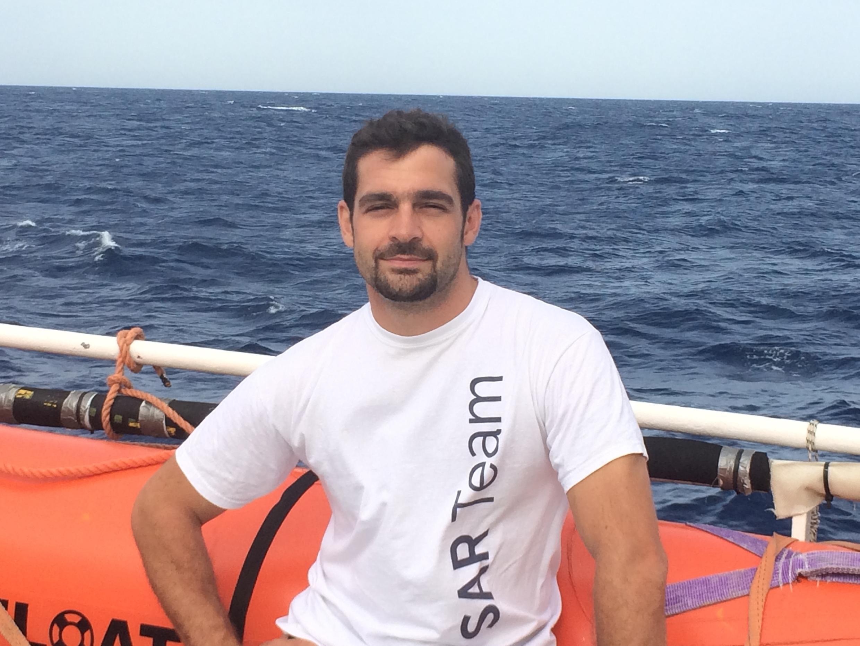 Edouard Courcelles, sauveteur, 34 ans.