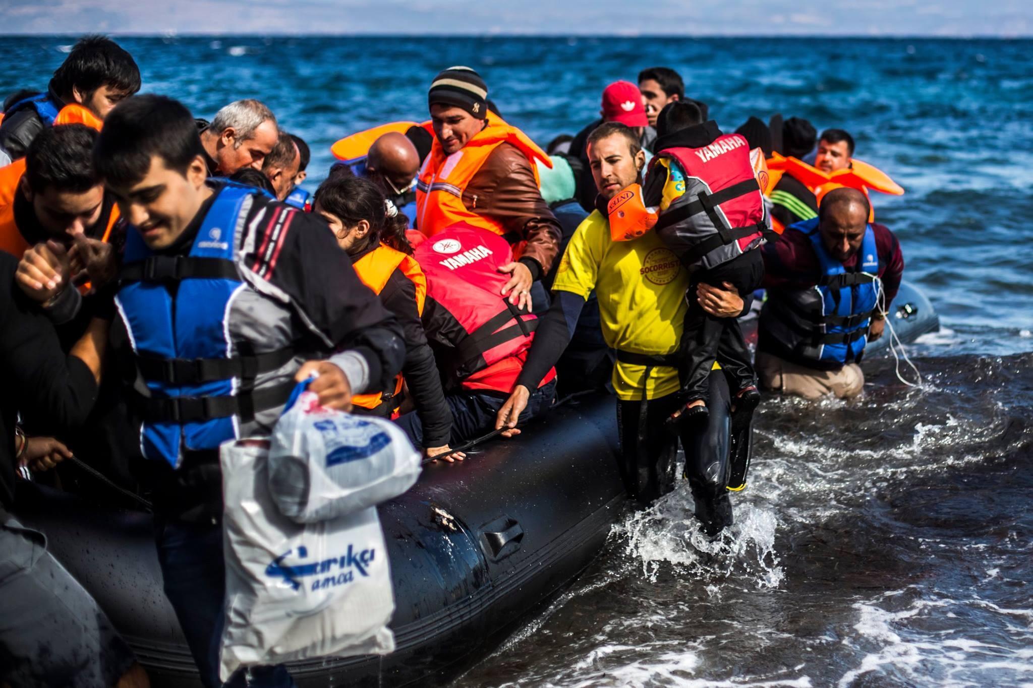Les bénévoles de Open Arms lors d'un sauvetage en septembre 2017.