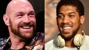 Tyson Fury (left) and fellow British heavyweight Anthony Joshua have signed a two-fight deal