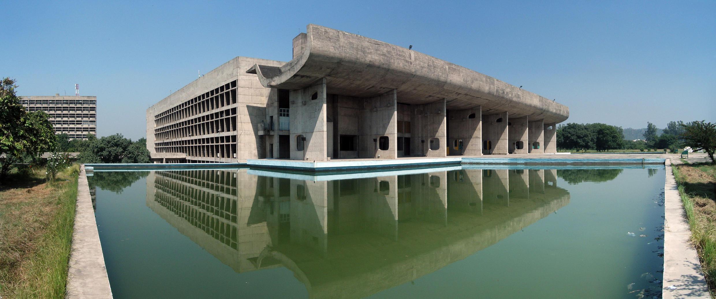 Le palais de l'Assemblée à Chandigarh en 2006.