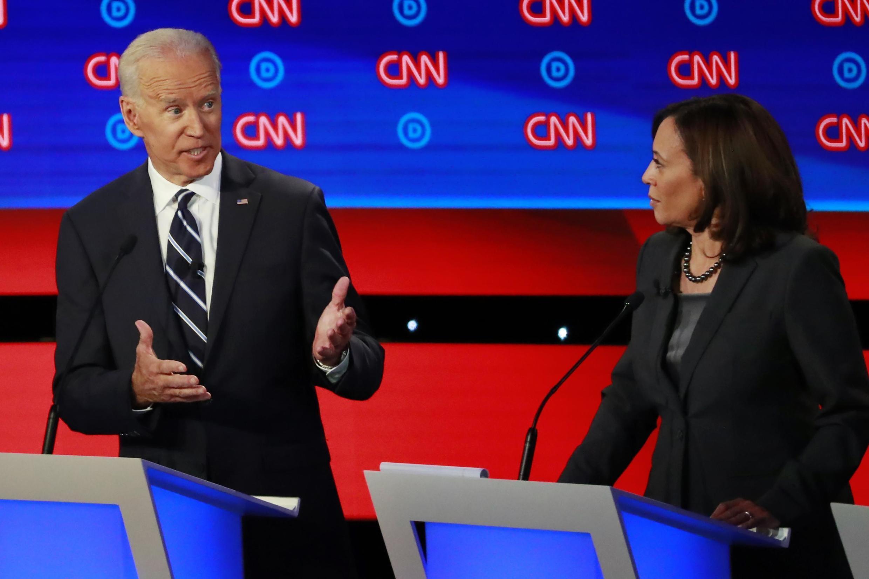 Joe Biden  da Sanata Kamala Harris, a lokacin fidda gwani a zaben Democrats na Amurka