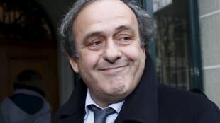 Michel Platini à Lausanne, le 8 décembre 2015.